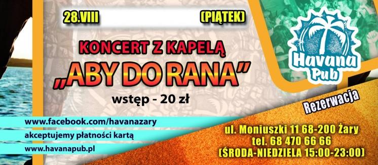 Koncert w pizzerii Havana Żary - zagra Aby Do Rana