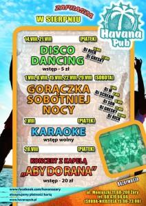 Koncert Havana Żary - zagra Aby Do Rana - plakat
